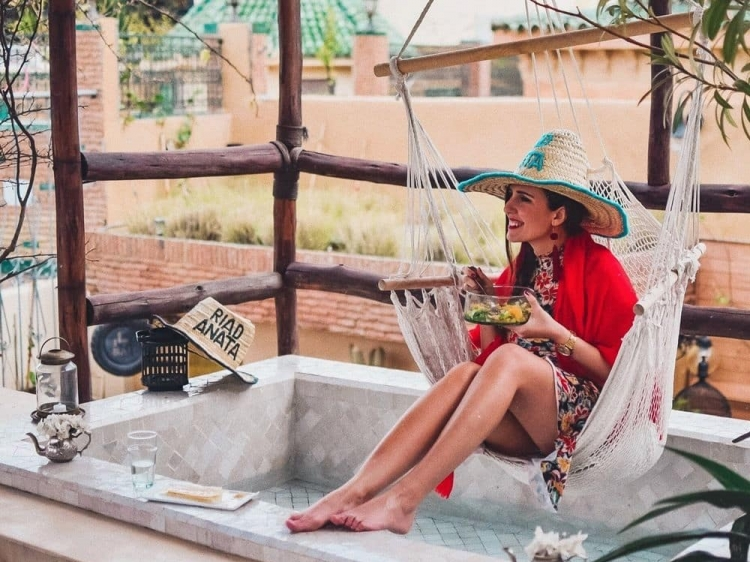 Riad anata fez best hotel b&b boutique hipster