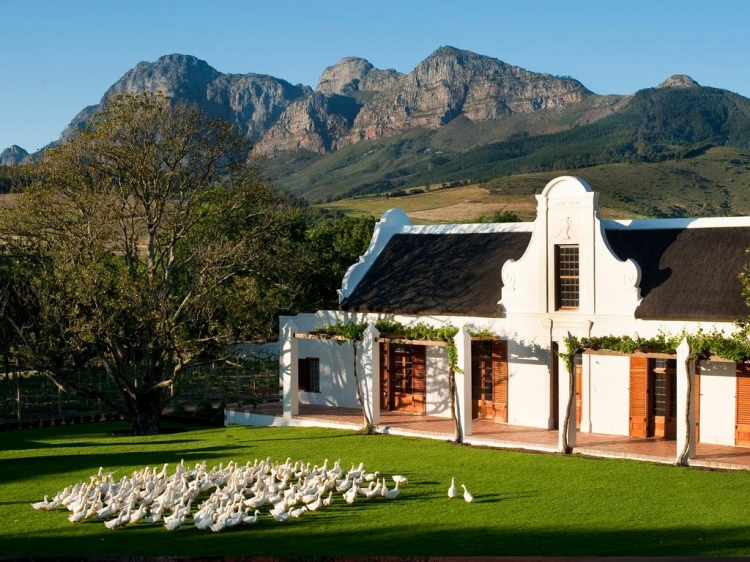 Luxurious and authentic Wellness oasis Babylonstoren in South Africa.