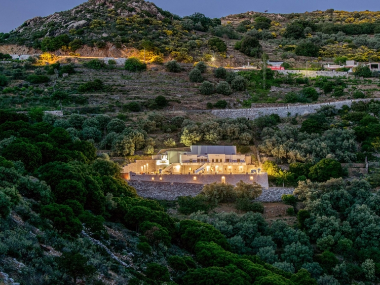 Exterior View ELaiolithos Luxury Retreat authentic rural countryside