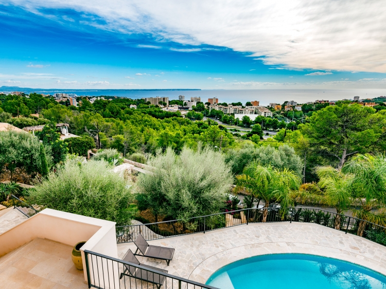 Upfloor - view from Master Bedroom Villa Oasis house villa vacation rent home mallorca majorca