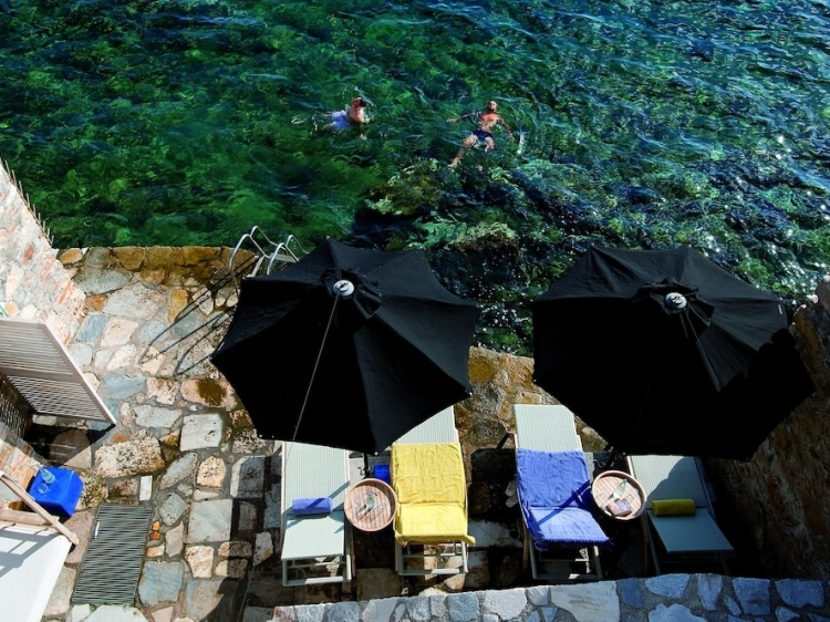 Private swimming area Hotel Ploes BOUTIQUE Syros, Greece best small luxury