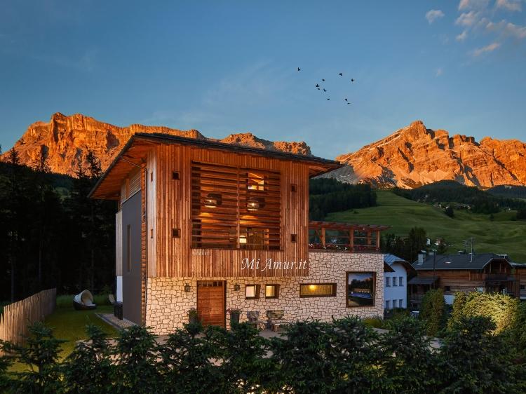Mi Amur Chalet in Alta Badia with swimming pool stunning views Alto Adige Italy