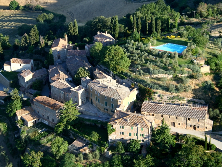 Lucignanello Bandini San Giovanni D'Asso Tuscany Italy Castle