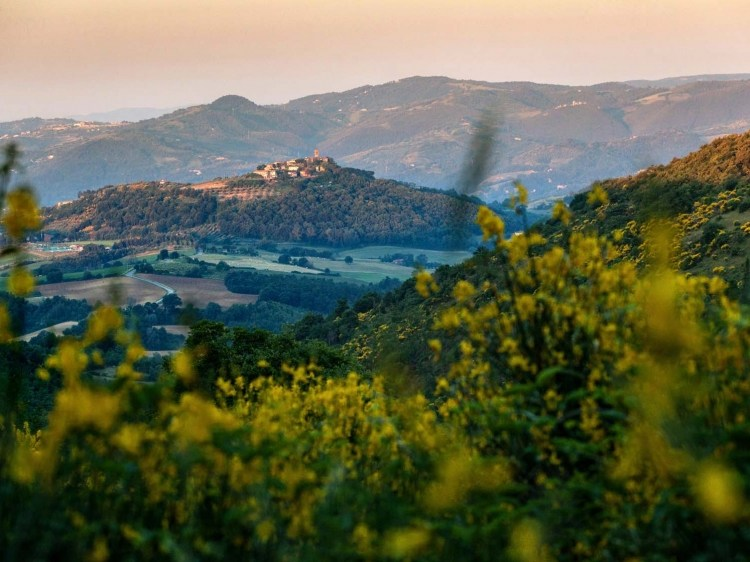 Locanda del Gallo Gubbio Umbria Italy View from Distance