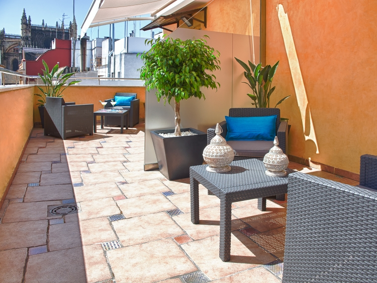 Hotel Alminar Andalusia Sevilla Spain Terrace