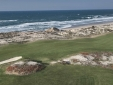 aerial view of golf course and beach - 300m from our Bed&Breakfast
