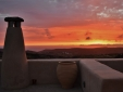 Sunset from terraces Studios