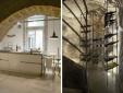 kitchen and wine cellar