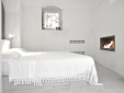 bedroom with bio-fireplace