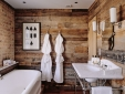 wood bathroom at Artist Residence hotel Pezane Conrwall