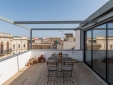 living in Penthouse Cordari Sicily Ortigia Italy Holiday Apartment cosy sofa bright rooms