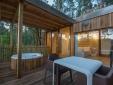 Cabañitas del Bosque Outes outdoor terrace