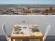 Lunch on the terrace with a view over the historic town of Medina Sidonia