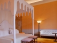 Lipparini, the 1 bedroom apartment has a staggering canopy bed