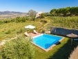 Pool surrounded by olive groves with stunning views of the Grazalema mountains