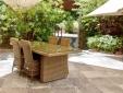 Pavillon with lavender