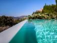 Locanda del Gallo Gubbio Umbria Italy infinity swimming pool