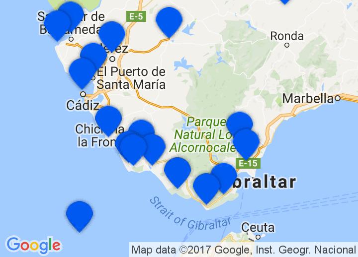Costa De La Luz Spain Map.Secretplaces Boutique Hotels And Holiday Homes Andalusia Cadiz Spain