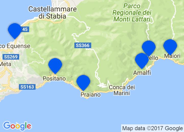 Maiori Italy Map.Secretplaces Boutique Hotels And Holiday Homes Amalfi Capri