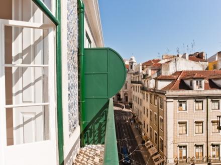 4C Gulbenkian. Balcony overlooking Rua da Conceição